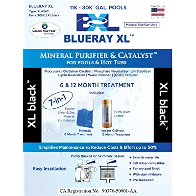 Blueray XL - XL Black | Mineral Purifier & Catalyst for Pools and Hot Tubs … : Garden & Outdoor