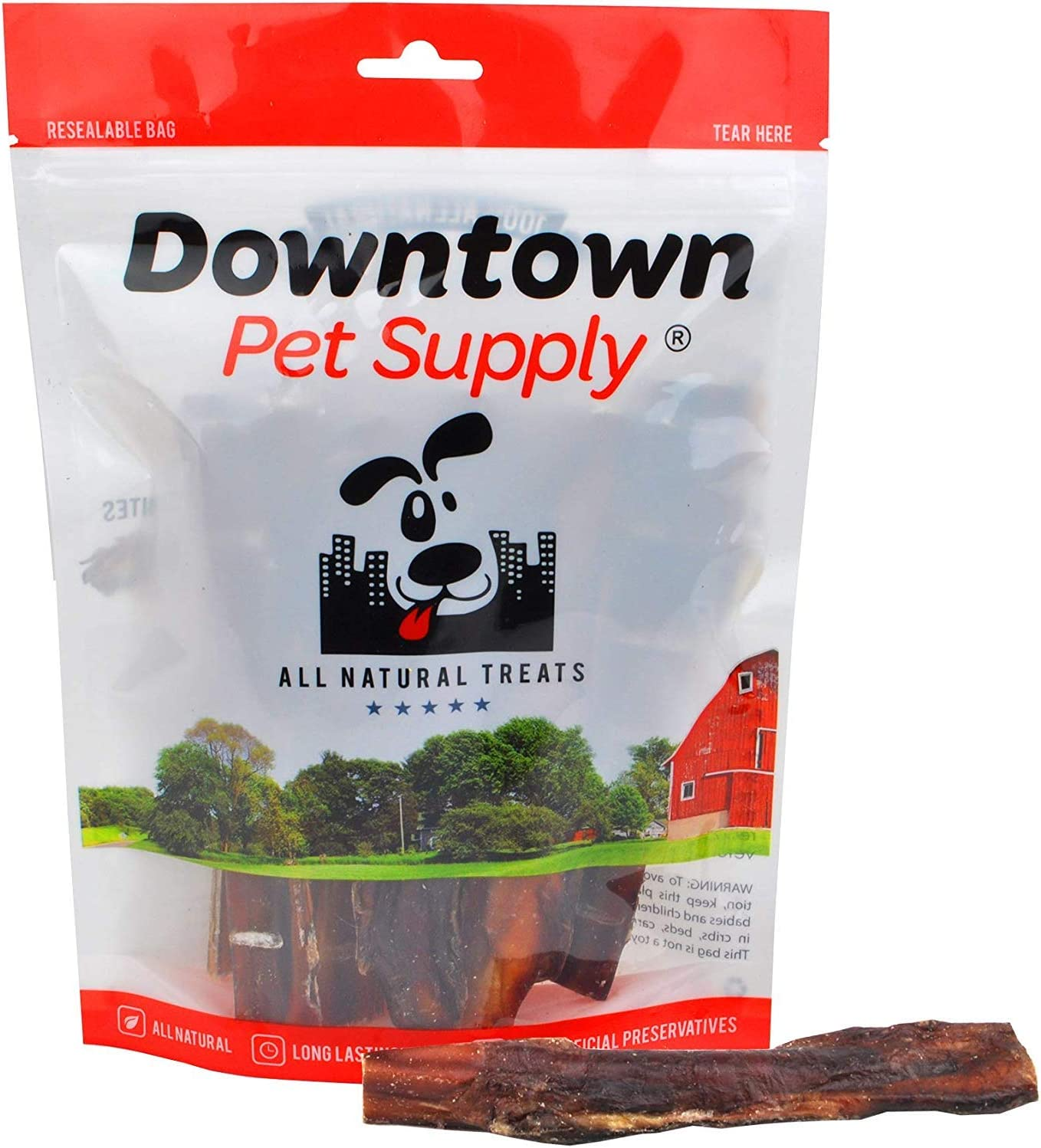 Downtown Pet Supply 6 Inch American Bully Sticks for Dogs Made in USA - Odorless Dog Dental Chew Treats, High in Protein, Alternative to Rawhides (6 Inch, 30 Pack)
