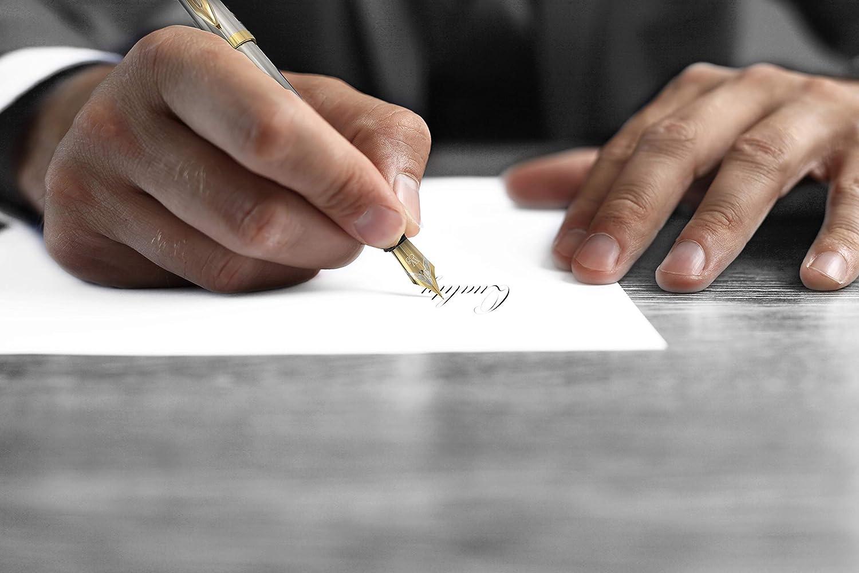 Wordsworth /& Black F/üllfederhalter Set Tintenkonverter und Luxus-Geschenketui F/üller inklusive 6 Tintenpatronen Kalligraphie und Schreibwerkzeug mit mittlerer Feder Perfekt f/ür Herren und Damen