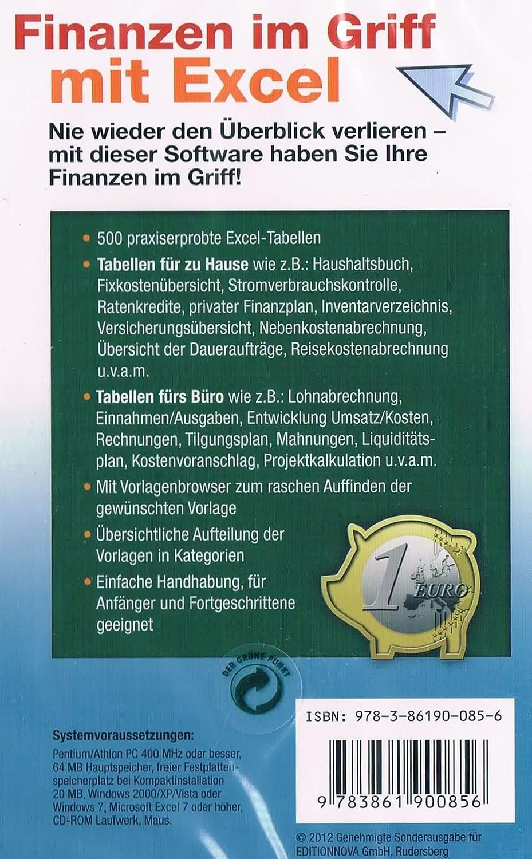 Finanzen im Griff mit Excel / Für zu Hause und fürs Büro: Amazon.de ...