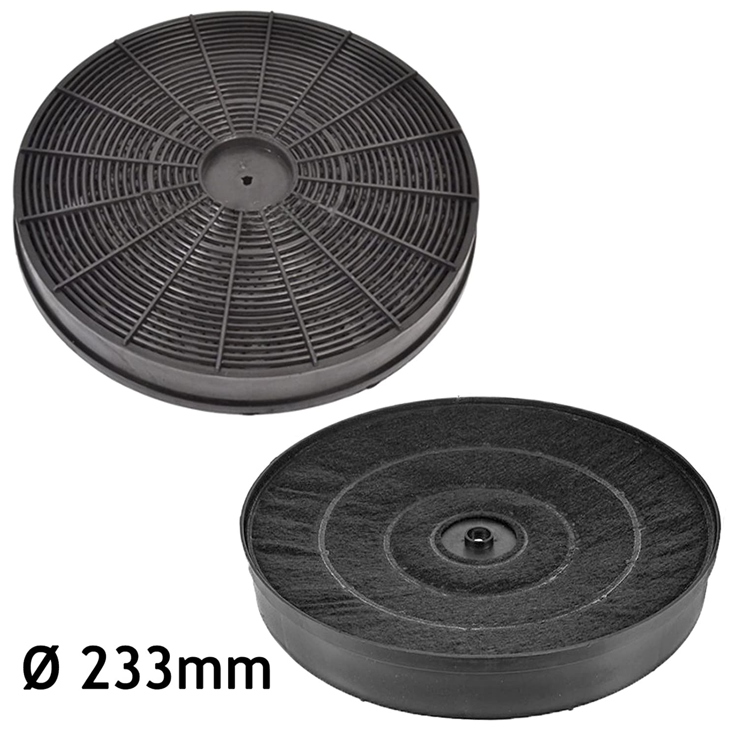 Pack of 2 SPARES2GO Activated Carbon Vent Filter for Tricity Bendix CH640 Extractor Fan Cooker Hood