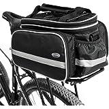 Tancendes Bike Rear Bag thicker rack straps Lengthened Shoulder Strap waterproof Nylon Bicycle Seat Trunk Bag with Raincoat