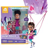 GoldieBlox Ruby Rails Action Figure with Parachute – Ages 4 and Up