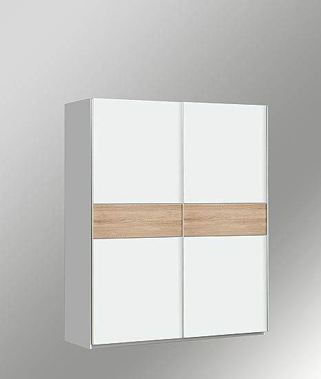 Armadio Ante Scorrevoli Altezza 190.Armadio Con Ante Scorrevoli Magasa 150 X 190 Cm Bianco Amazon It Casa E Cucina