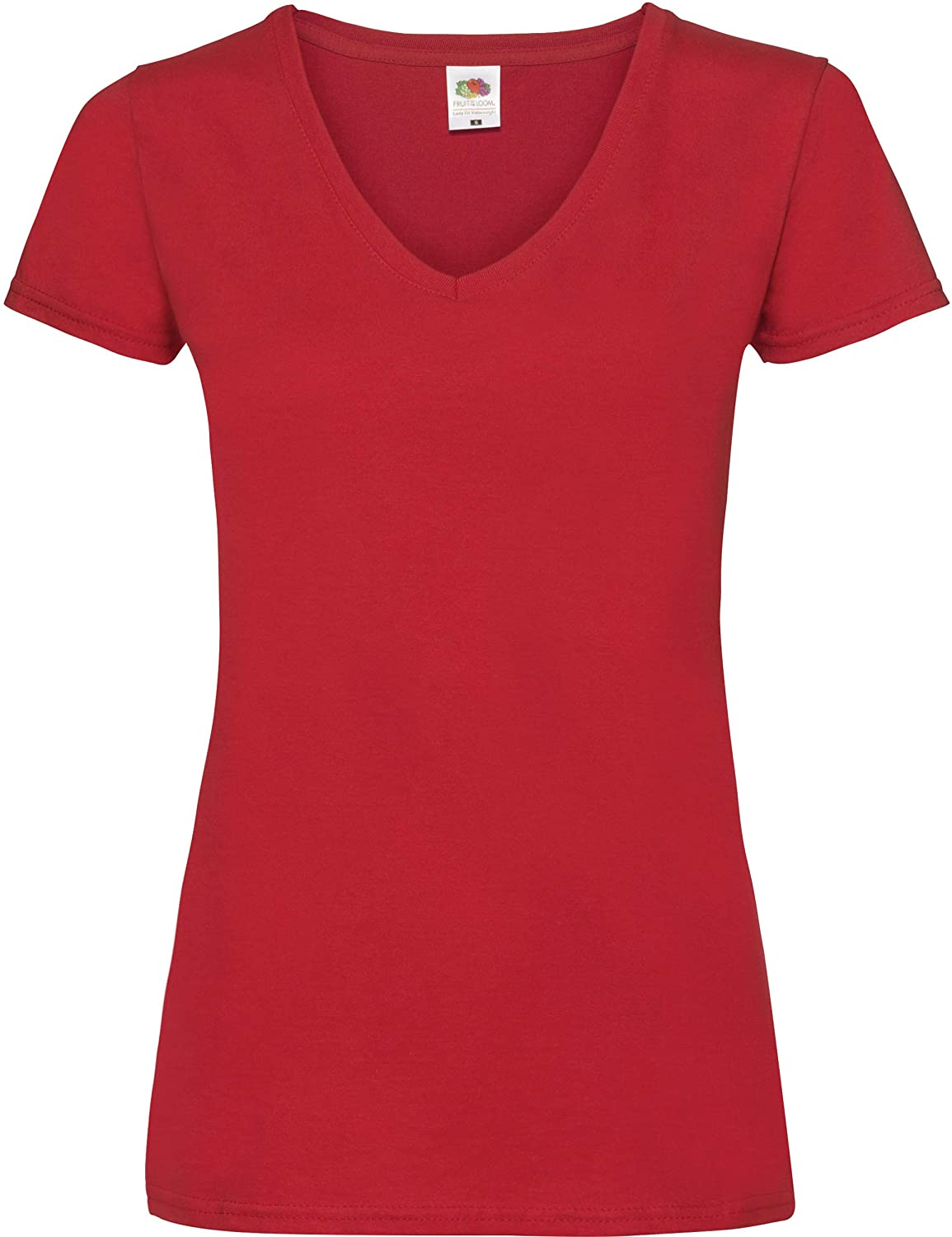 Lady-Fit Valueweight V-Neck T-Shirt von Fruit of the Loom 61-398-0