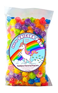 Bag of Unicorn Poop - Windy Pops Rainbow Flavored Popcorn - 7.5 Oz Bag of Glazed Popcorn Treat - Funny Gag Gift for Unicorn Lovers