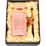 WHATCHA She Believed She Could So She Did Pink Gold Funny Coffee Mugs Graduation Got Job Ceramic Tea Cups Gifts for Her…
