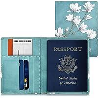 kwmobile Funda para pasaporte de cuero sintético compatible con pasaporte DNI - EStuche con ranuras para tarjetas y…