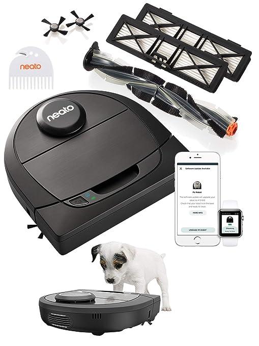 Neato Robotics D650 Edicion Especial para Mascotas - Robot aspirador con base de carga, Conexión