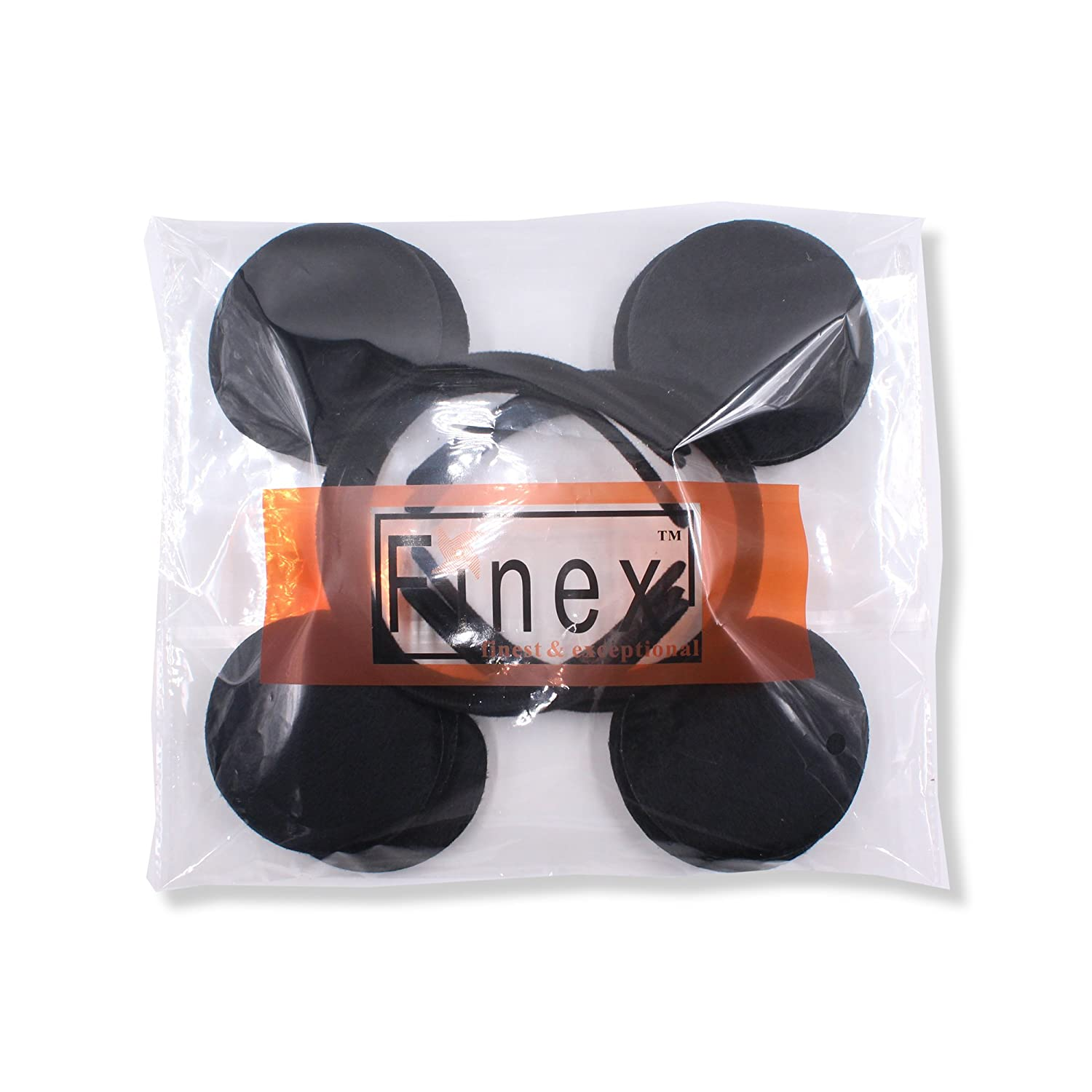 Girls' Clothing Hair Accessories 12pcs Hair Accessories Minnie/mickey Ears Solid Black & Red Bow Headband For Boys/girls Birthday Party Celebration Cosplay