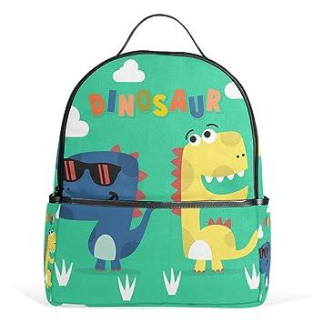 Amazon.com | FOLPPLY Cute Cartoon Dinosaur School Backpacks ...