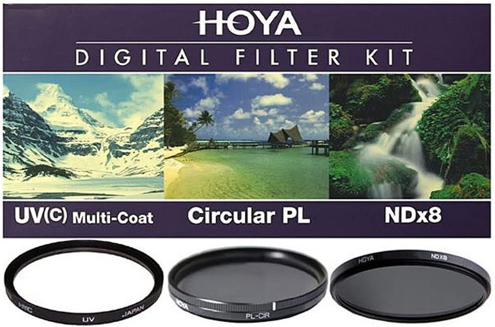 Hoya 72mm HMC UV//Circular Polarizer // ND8 3 Digital Filter Set with Pouch