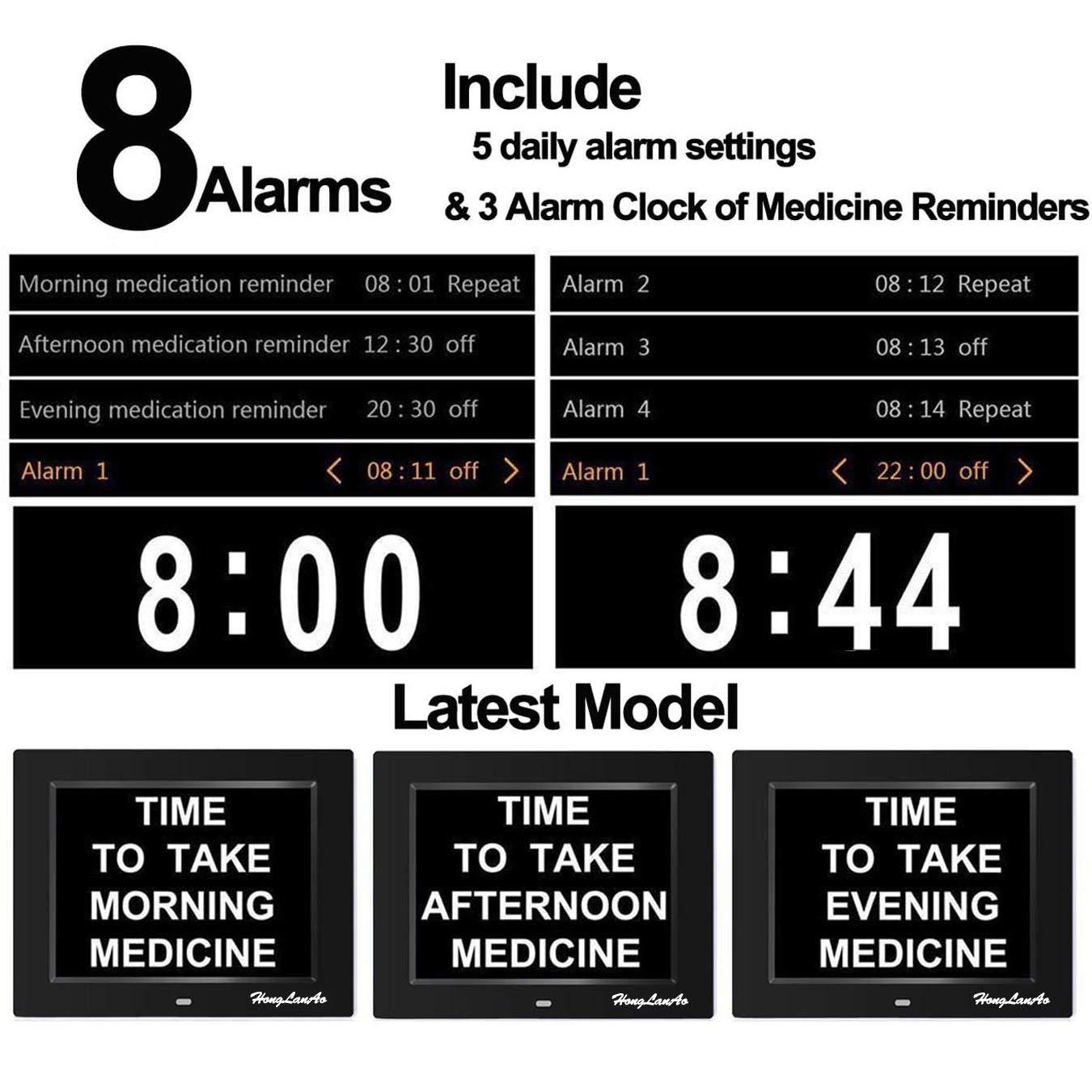Honglanao® Reloj Calendario Actualización | Con Función de Alarma 8