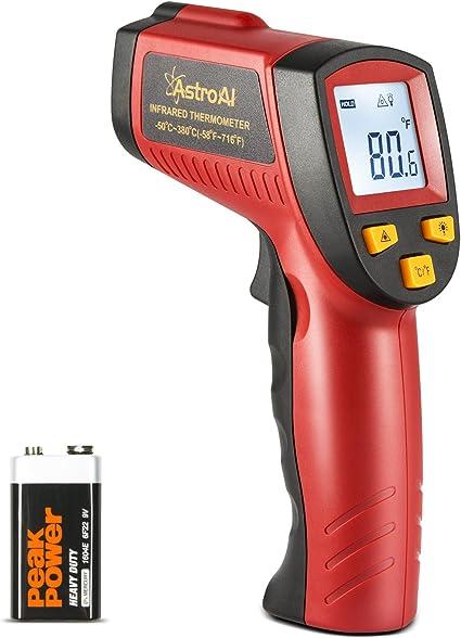 rojo Tipo De L/ápiz Infrarrojo Digital Sin Contacto Term/ómetro De Bolsillo Medidor De Temperatura Pantalla LCD
