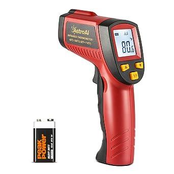 AstroAI Termómetro Infrarrojo Láser Digital de Mano -50℃ ~ 380℃, Laser Temperatura