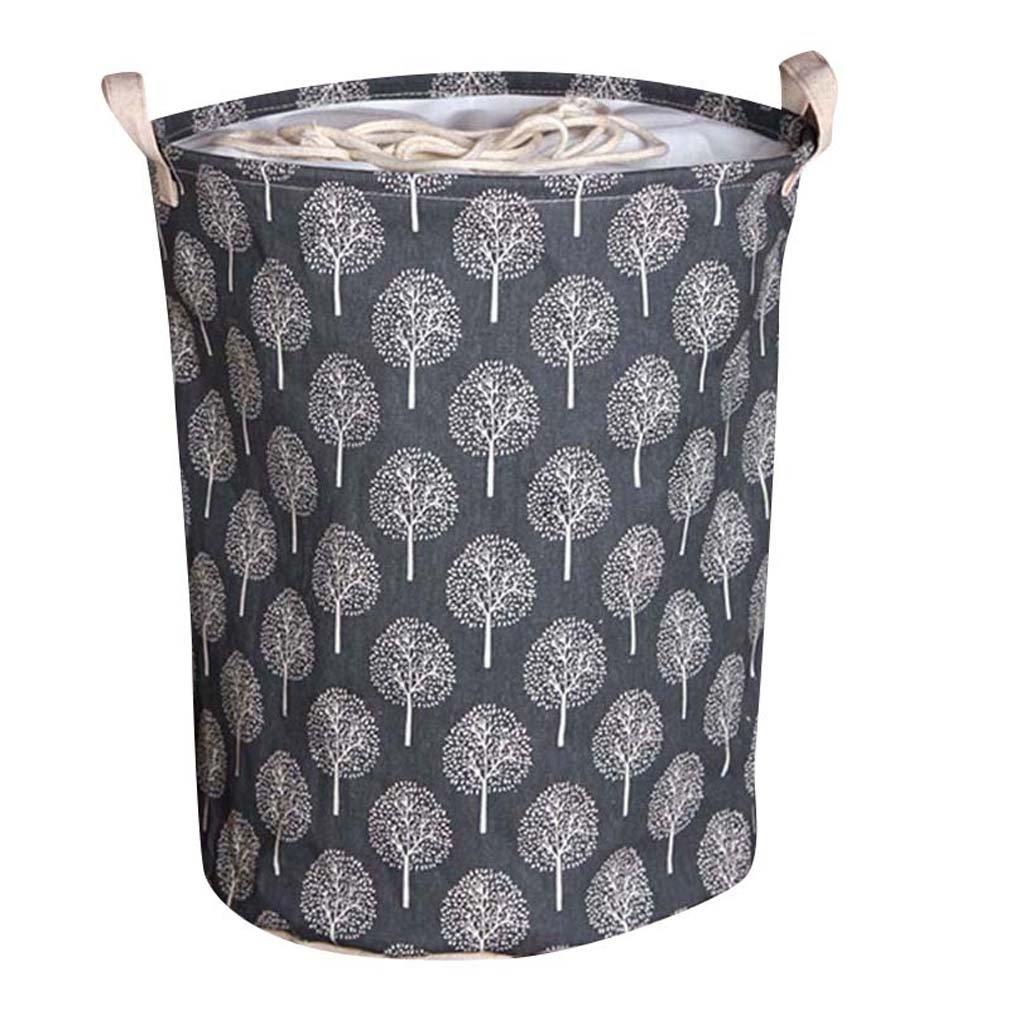 urijk lona impermeable lavandería cesta para almacenamiento de ropa plegable de almacenamiento organizador soporte caja bolsa barril