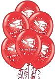 Palloncini Laurea rossi addobbi e decorazioni per feste party confezione 25pz