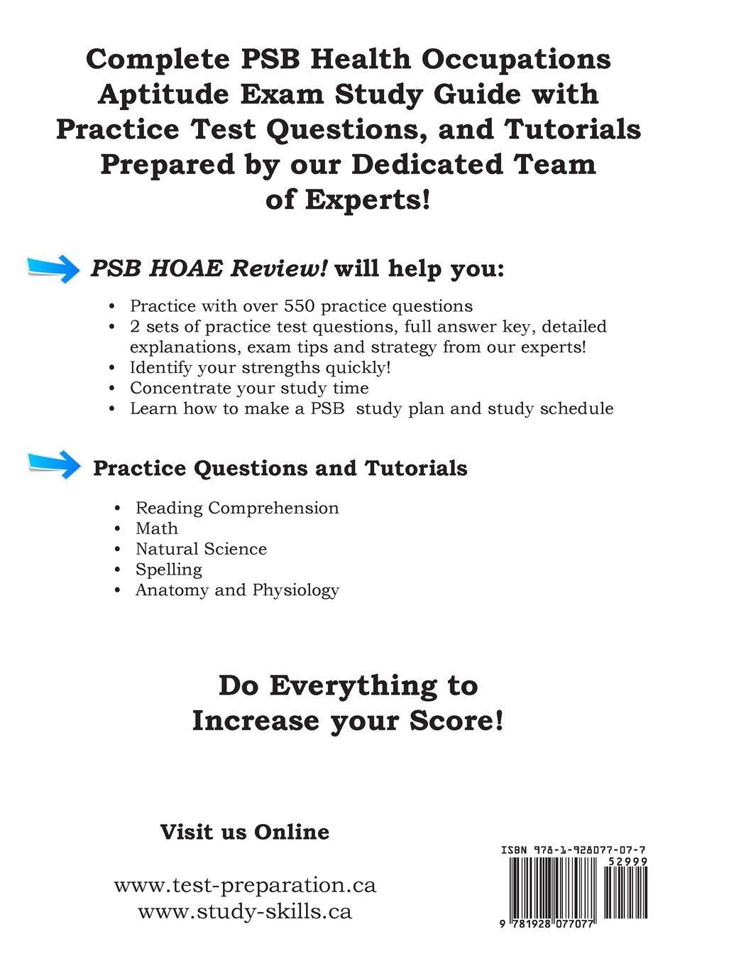 Buy PSB HOAE Review!: Complete Health Occupations Aptitude Test ...