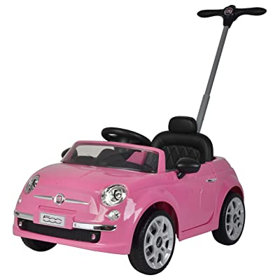 Best Ride On Cars Fiat Push car Pink: Toys & Games