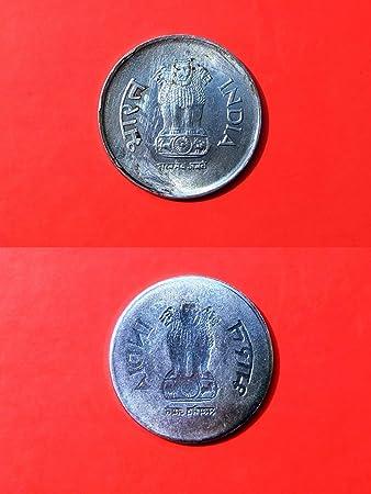 1 Rupee Lakhi C o i n~100% Full Obverse Brockage~Ex Rare