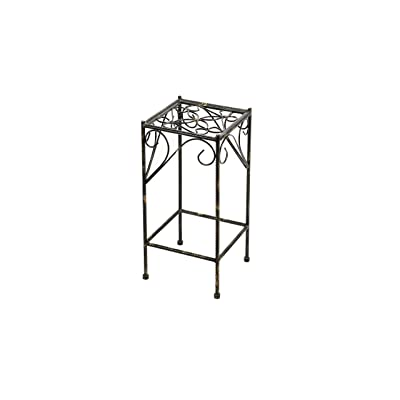 ORE International LB-1707 LB-1707 Plant Stand, Black/Gold : Garden & Outdoor