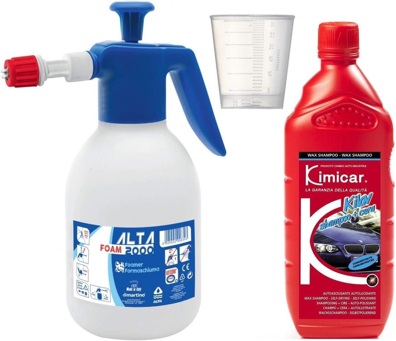 Auto Reinigungsset Alta Foam 2000 Schaumsprüher Kimicar Shampoo Mit Wachs Auto