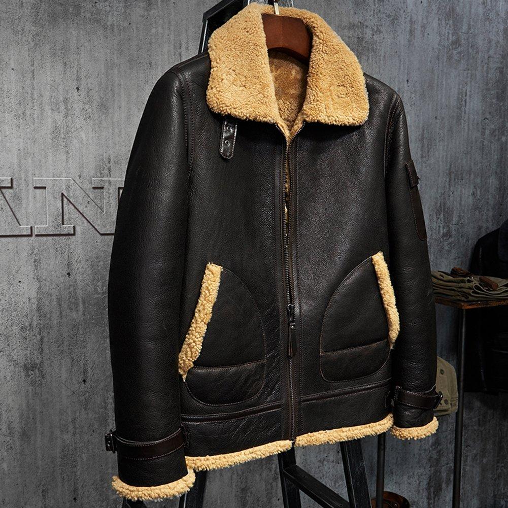 Mens Shearling Jacket B3 Flying Jacket Men S Fur Coat Aviation