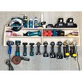Cordless Drill Tool Holder Organization Storage Rack Wood Shelf Case Organizer 10-Slot Birch Plywood fits Dewalt 20V MAX…