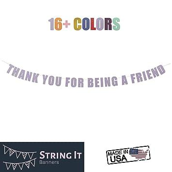 Amazon.com: Gracias por Ser un amigo Banner – Friends ...