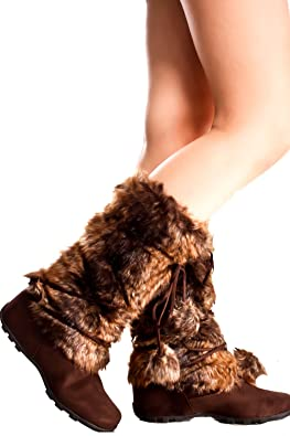 Shoe Dynasty SUEDE MATERIAL FUR TRIM ACCENT CASUAL BOOTS   B00O84MUEI