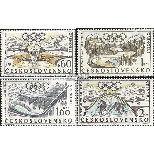 Tchécoslovaquie 1763-1766 (complète.Edition.) 1968 Jeux d'hiver (Timbres pour les collectionneurs)