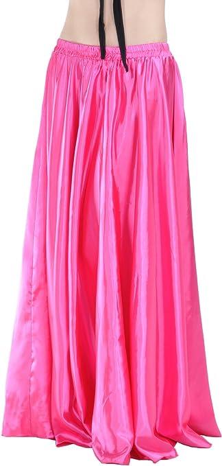 Dance Fairy elegante Pure color Rose Red Larga Danza del vientre ...