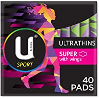 U by Kotex Sport Ultrathin Pads Super With Wings (Pack of 40)