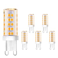 Creyer G9 LED Lampen Kein Flackern /420 lumens/ 5W ersetzt 40W Halogenlampen/Warmweiß 2900K/ G9 LED Leuchtmittel Birne/AC 220-240V/ Nicht Dimmbar/ 5er Pack