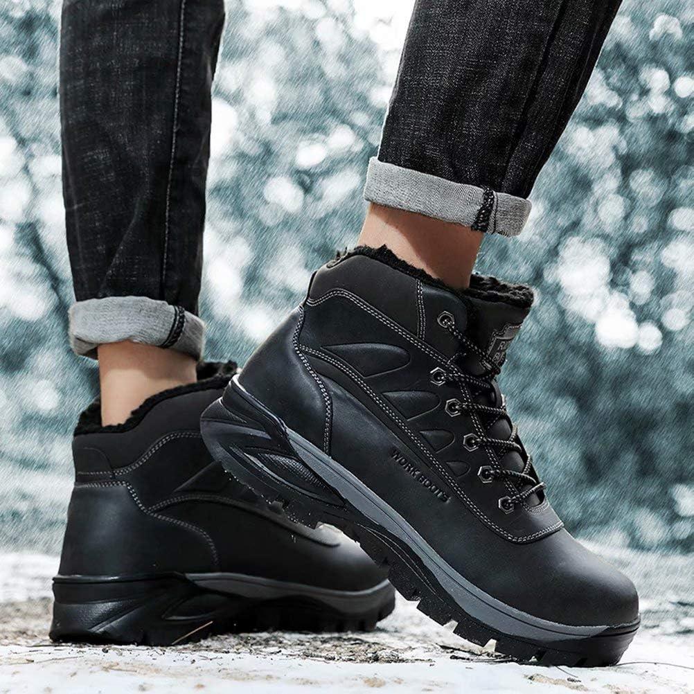 Botas de Invierno para Hombre Calentitas C/ómodas Antideslizantes Botas de Nieve Outdoor Impermeables Trekking Zapatos