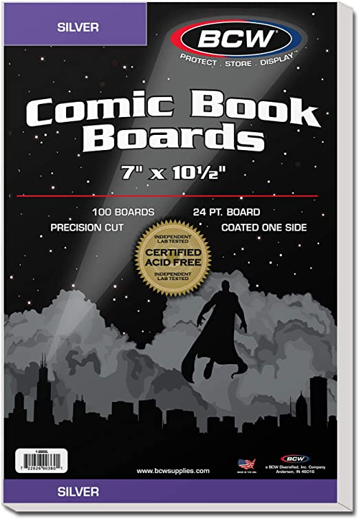 100 BCW Silver Age Comic Book Backing Boards