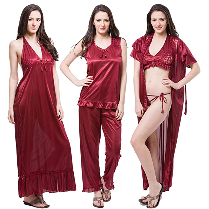 Buy ThatsPersonal Sexy Lingerie Night Dress for Women for Honeymoon (Free  Size Fit for All) Red at Amazon.in