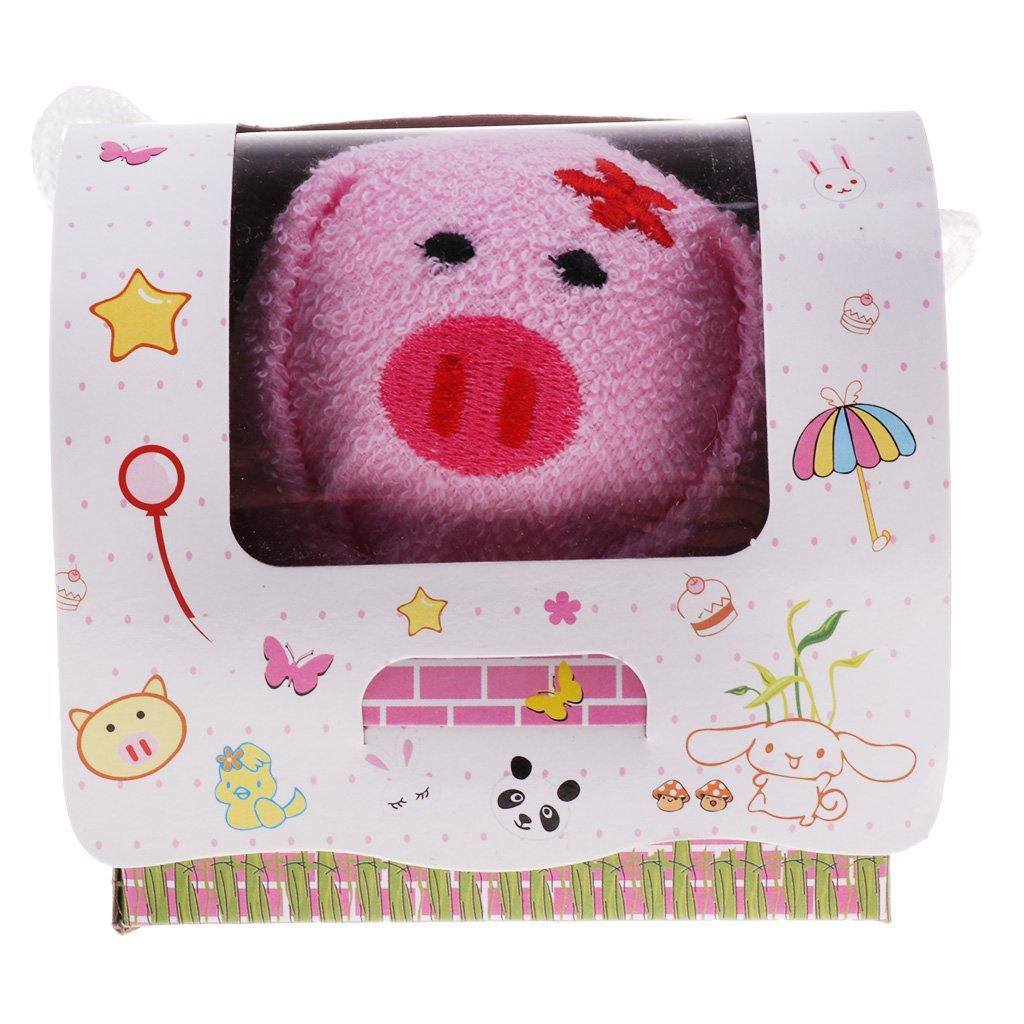 IPOTCH Toalla de Forma Animal Lindo para Bebés Accesorio de Regalo de Mesa Comedor Viaje - Cerdo hembra, 19x19cm: Amazon.es: Bebé