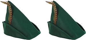 Beistle Robin Hood Hats, Green/Brown