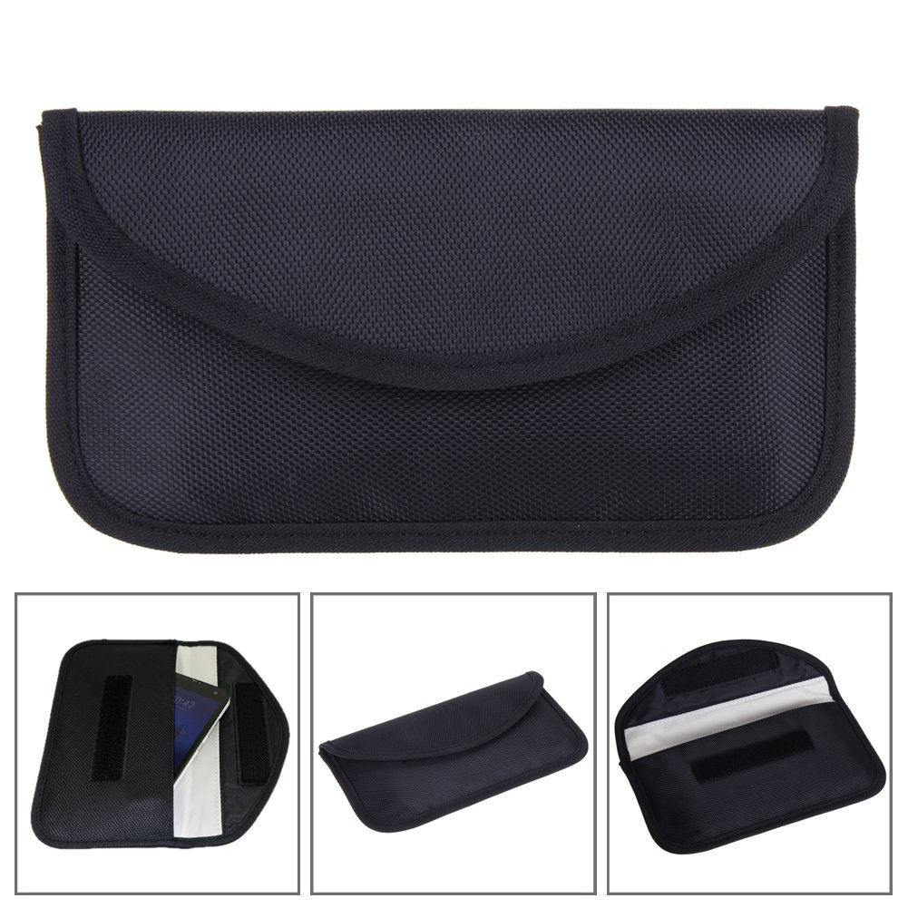 Black Vanpower Cell Phone RFID Signal Shielding Blocker Bag Pouch Wallet Case Anti Radiation for Pregnant