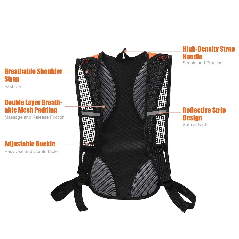 iOutdoor Products Zaini per Ciclismo Zaini Sportivi 5L Zaino della Spalla Resistente all\'Acqua Traspirante Ultraleggero Alpinismo Viaggi