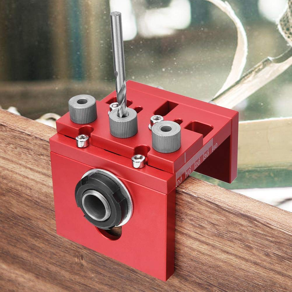 3-in-1 Woodworking Hole Drill Punch Positioner Aluminum Alloy Punching Guide Locator Hole Drill Punch Guide Woodworking