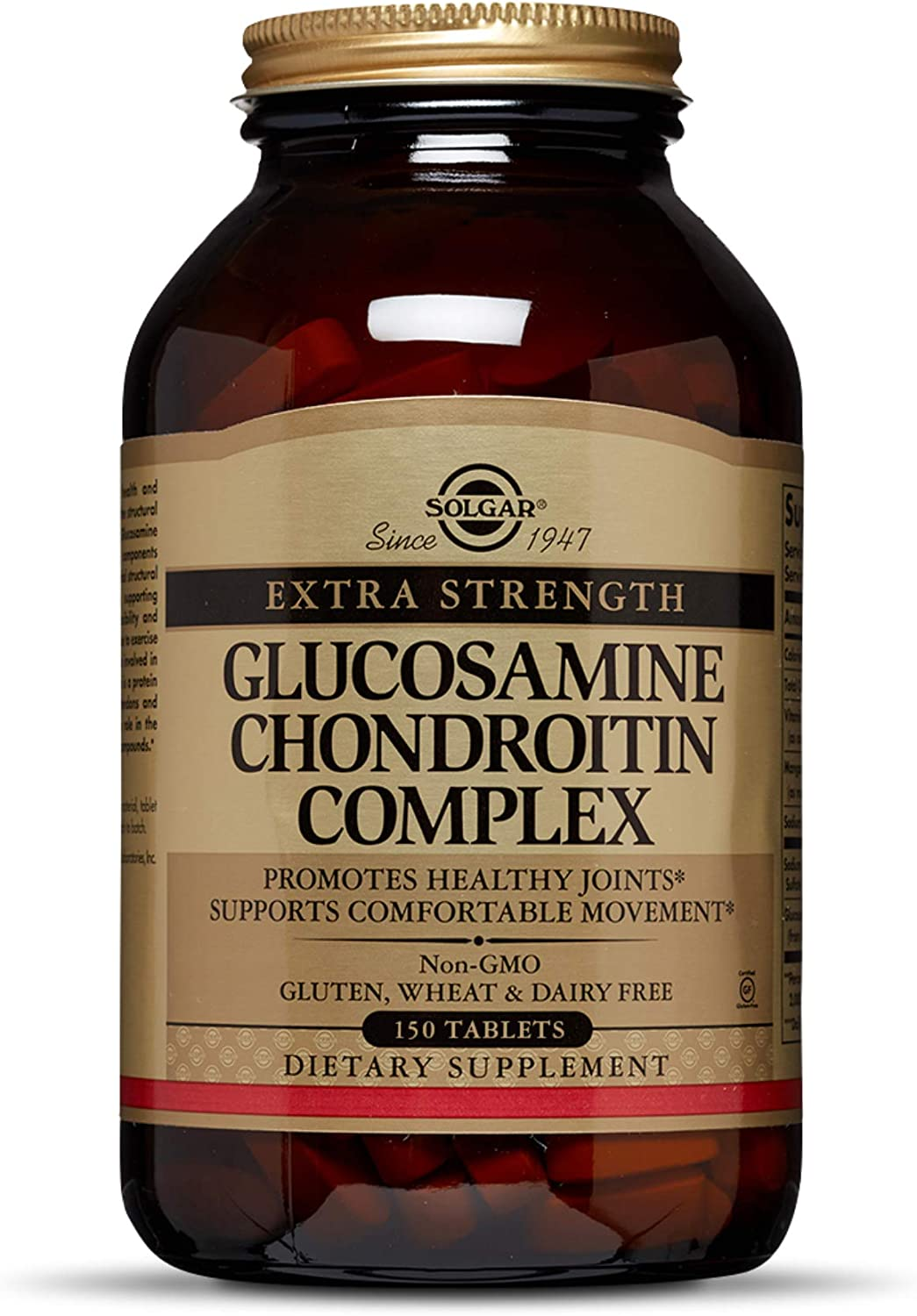 Solgar Extra Strength Glucosamine Chondroitin Complex, 150 Tablets - Promotes Healthy Joints - Supports Comfortable Movement - Non-GMO, Gluten Free, Dairy Free - 50 Servings
