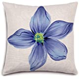 Pastoral Style Flowers Series Linen Printed Throw Cushion Cover Pillow Case For Home Chair