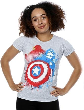 Marvel Femme Captain America Civil War Painted vs Iron Man T