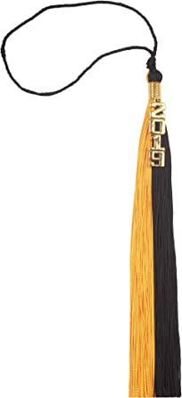 2019 Graduation Orange Black Silver Gray Tassel With Gold Charm Free Shipping