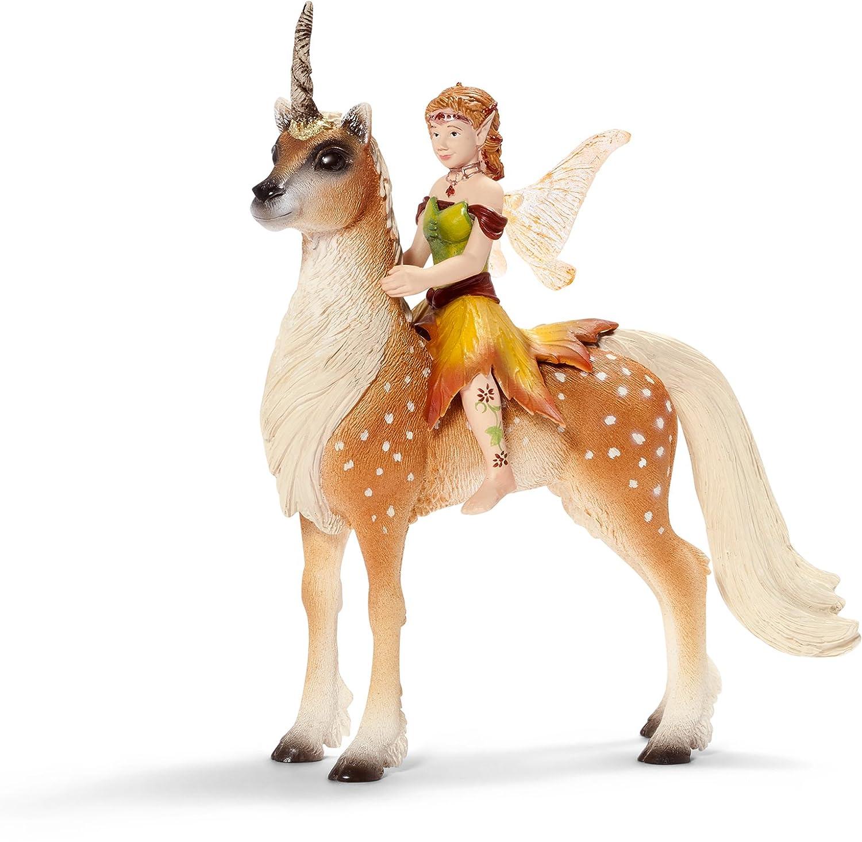 amazon com schleich female elf on unicorn toys u0026 games