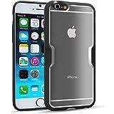 iPhone 6S Hülle - Fintie [CaseBot Serie] Slim Fit Schutzhülle Tasche Case Etui mit TPU Rahmen -Preimiun halb-transparent Hardcover Rückschale für Apple iPhone 6S (4.7 Zoll), Schwarz