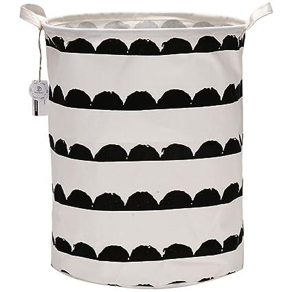 Equipo de mar plegable Organizador de cesta de almacenamiento de basura de almacenamiento de grandes cilíndrico