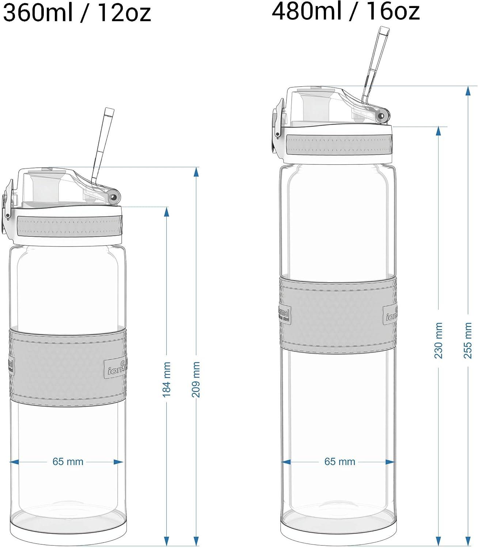 ThermoShield Rostfreier Stahl 360ml 12oz ion8 Auslaufsichere Getr/änkeflasche